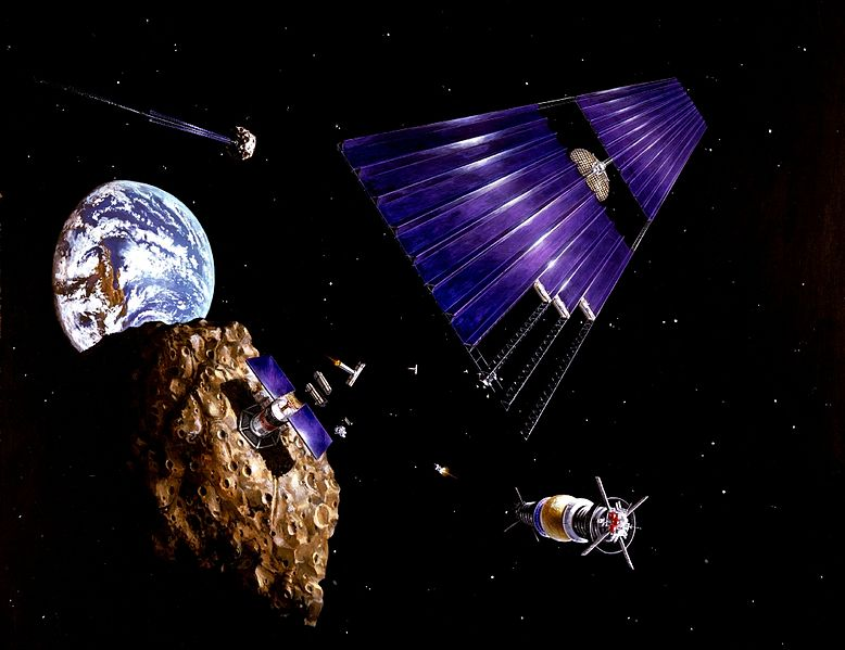 Manufacturing a solar power array from asteroid materials